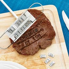 Personalised Steak Branding Iron Iron Gifts For Him, Presents For Dad, Gifts For Father, Fathers, Le Diner, Anniversary Gifts For Him, 6th Anniversary, Bbq Party Decorations, Carne Churrasco