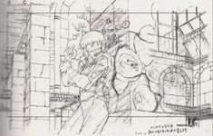 "external-storage: "" Mitsuo Iso's layout drawings for Ghost in the Shell "" Cyberpunk, Comics Illustration, Illustrations, Ghibli, Manga Art, Anime Manga, Good Animated Movies, Masamune Shirow, Animation Storyboard"