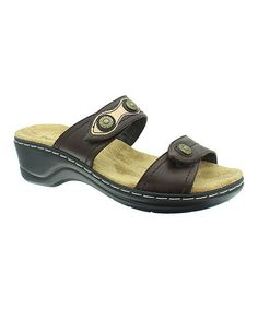 Brown Aleisha Button-Accent Sandal #zulily #zulilyfinds