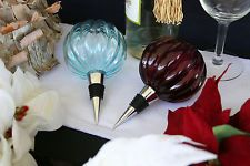 POTTERY BARN GLASS WINE BOTTLE STOPPER/TOPPER – A MOST CLASSY BELLE OF THE BALL!