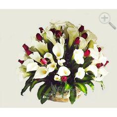 Floreria - Flores Elegantes de Mexico arreglo de rosas y alcatraces