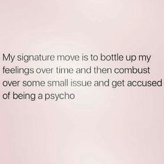 #INFP - learning to not bottle up emotions