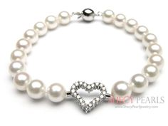 pearl bracelet with love