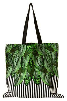 Daria Tote Bag Botanical Stripe
