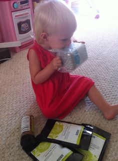 This munchkin is so excited about the Melon Ball Matcha that she's trying to open the wrapping with her new teeth. We understand your excitement! Thanks for sharing Farren Ann'Jakks.