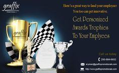 Customized awards #trophies by Graffix Promotionals Inc.