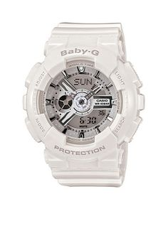 G-Shock Women's White Analog-Digital Baby-G Watch