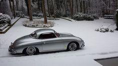 Cool Porsche 2017: 1957 Porsche 356 T2 hardtop speedster with fresh snow...  Hot cars