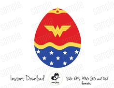 This item is unavailable Huevo Cartoon, Wonder Woman, Easter Bunny, Easter Eggs, Easter Crafts, Crafts For Kids, Egg Art, Mickey Ears, Egg Decorating