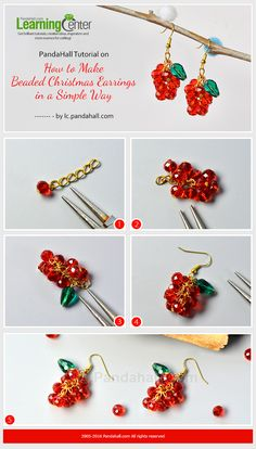 PandaHall Tutorial on How to Make Beaded Christmas Earrings in a Simple Way from LC.Pandahall.com