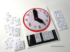 Creativeations: New Quiet book pages - learn to tell time with this clock