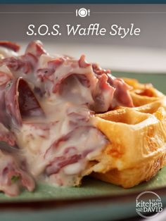 Mom`s Creamed Chipped Beef & Waffles Waffle Recipes, Brunch Recipes, Beef Recipes, Cooking Recipes, Kitchen Recipes, Recipies, Potato Waffles, Pancakes And Waffles, Cheese Waffles