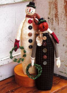 Jack and Frost Holiday Doll Pattern / 17 inch by ThimbleWings, $4.95