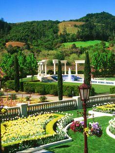 Ferrari Carano, Sonoma, CA. Wine tasting. Several times. Stunning winery!