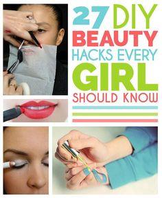 27 DIY Beauty Hacks Every Girl Should Know !!!!