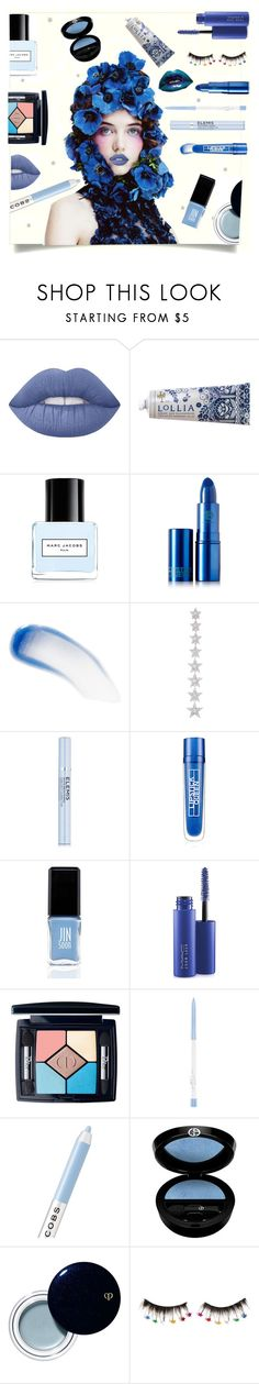 """""""Deja Blue"""" by taste-for-life ❤ liked on Polyvore featuring beauty, Lime Crime, Lollia, Marc Jacobs, Lipstick Queen, Elise Dray, Elemis, JINsoon, MAC Cosmetics and Christian Dior"""