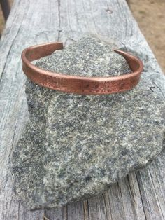 Thick Copper Hammered Cuff $20