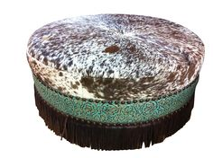 Custom western furniture - leather, cowhide, embossed leather. All made in Texas!