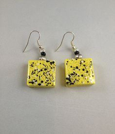 Urban Sunshine Scrabble Tile Earrings  by pendantparadise on Etsy