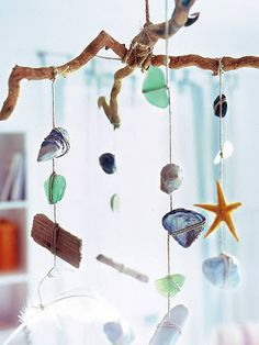 perfect idea for all the sea glass and sea shells the kids and I have collected :)