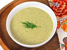 Creamy Broccoli Tahini Soup via @toriavey