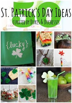 Do you celebrate St. Patrick's Day? It's always fun to do a little something to make the day special for the kids but why reinvent the wheel? I found 50 St. Patrick's Day ideas to inspire you! Things to Eat on St. Patrick's Day saltwater taffy rainbow kabob{pictured} DIY colored pasta rainbow trix treats{pictured} shamrock …