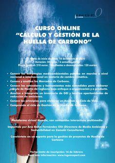 """Curso Online """"Cálculo y Gestión de la Huella de Carbono"""". Fecha de inicio: 16 de febrero  Más información: www.ingeoexpert.com  #medioambiente"""