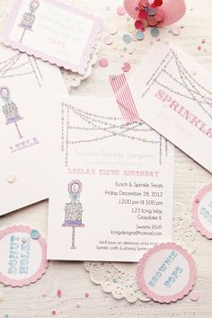 Sprinkles Sprinkles Everywhere ~ invitations ♥
