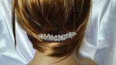 Swarovski Crystal Hair Comb Bridal Wedding Bridesmaid Swarovski Hair Comb Hair Accesories Hair Jewelry Swarovski AB Hair Comb
