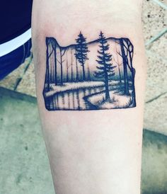 Oregon Tattoo Trees Art, I'm in love with this tattoo! I get complements on it daily! @ariannatattoos