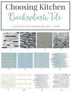 Choosing Kitchen Backsplash Tile | JustAGirlAndHerBl