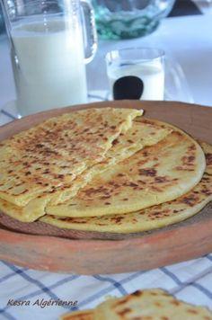 Kesra Algérienne spécial Ramadan,la kesra est une galette de semoule fine,elle accompagne très bien la chorba pendant le ramadan!