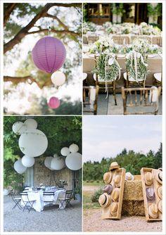 decoration mariage provence decoration salle lampion en papier ballons geantrosacefleur pompons chapeau