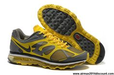 Sale Cheap Mens Nike Air Max 2012 Varsity Maize Grey 487982-009 Running Shoes Shop