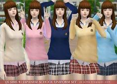 JS Sims 4: Japanese School Uniform Set | Sims 4 Downloads | Scoop.it