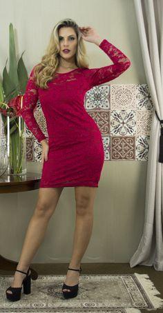 Ref. 11565 Vestido de Renda
