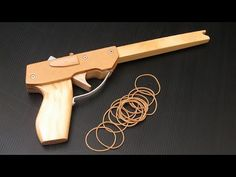 Tutorial - simple 14 shot rubber band pistol - YouTube