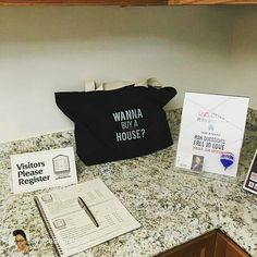 Jumbo Tote - Wanna Buy a House [square] Real Estate Career, Real Estate Business, Selling Real Estate, Real Estate Tips, Real Estate Marketing, Open House Signs, Home Buying Tips, Realtor Gifts, Sell Your House Fast