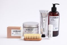L:A Bruket - Marigold/Orange/Geranium Salt Bath - White/Black Spa Bar, Soap Melt And Pour, Branding, Brand Identity, Soap Tutorial, Brand Packaging, Product Packaging, Flower Oil, Shampoo Bar
