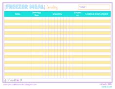 Prize A Little Save-A-Lot: Free stock list for pantries and freezers Pinch A Little Save-A-Lot: Free Pantry & Freezer Inventory List - Own Kitchen Pantry Pantry Inventory Printable, Pantry List, Pantry Labels, Household Binder, Household Notebook, Home Binder, Home Management Binder, Binder Organization, Kitchen Pantry