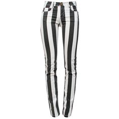 FAITH CONNEXION Stripe Skinny ($295) ❤ liked on Polyvore