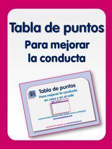 TABLA DE PUNTOS PARA MEJORAR CONDUCTA     http://familiaycole.com/2014/03/09/tabla-de-puntos-para-mejorar-la-conducta/