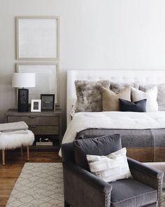 Decoration Bedroom, Decoration Design, Home Decor Bedroom, Modern Bedroom, Bedroom Furniture, Master Bedroom, Bedroom Ideas, Minimal Bedroom, Bedroom Chair