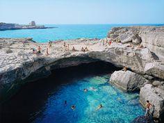 7. The Grotta della Poesia (Grotto of Poetry), Roca Vecchia, Italy. Image from Conde Nast Traveler.