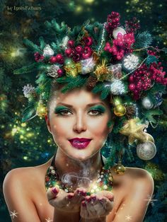 Happy new year! by IgnisFatuusII on DeviantArt Drawing Apple, Lady In My Life, Bio Art, Knit Leg Warmers, Christmas Photography, Glamour, Traditional Art, Happy New Year, Merry Christmas