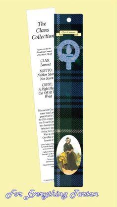 Clan Lamont Clan Tartan Clan Lamont History Bookmarks Set of 2