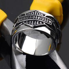 Harley Stainless Steel 316L Ring Bar Shield Gift Biker Motor Cycles | eBay