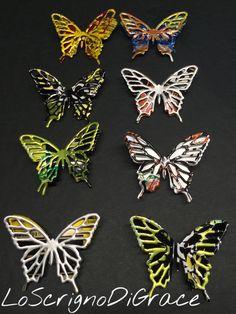 Spille a farfalla realizzate utilizzando lattine