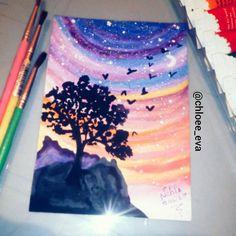 tree painting @chloee_eva_drawings