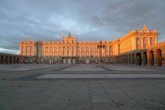 Atardecer en Madrid. El Palacio Real